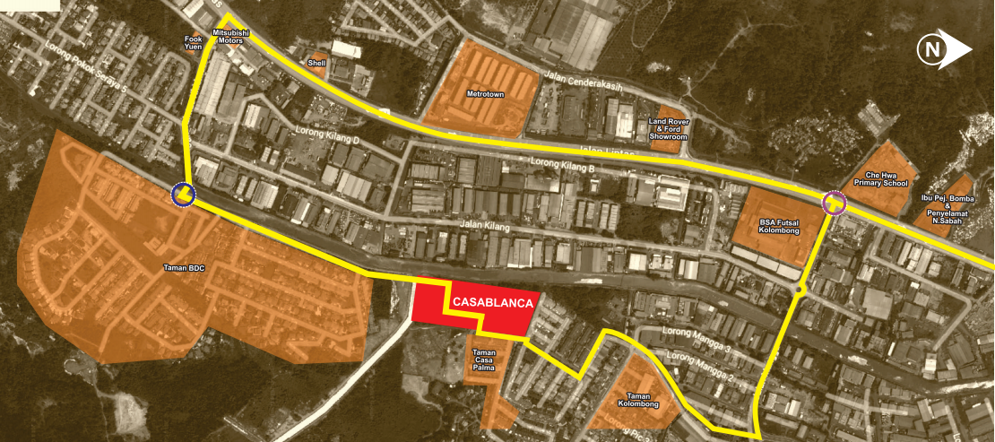 Map of Casablanca Residence @ Off Jalan Kolombong