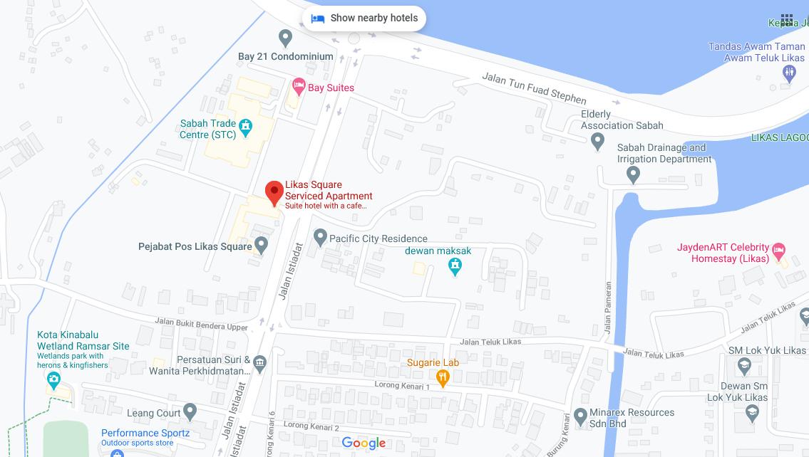 Map of Likas Square Apartment