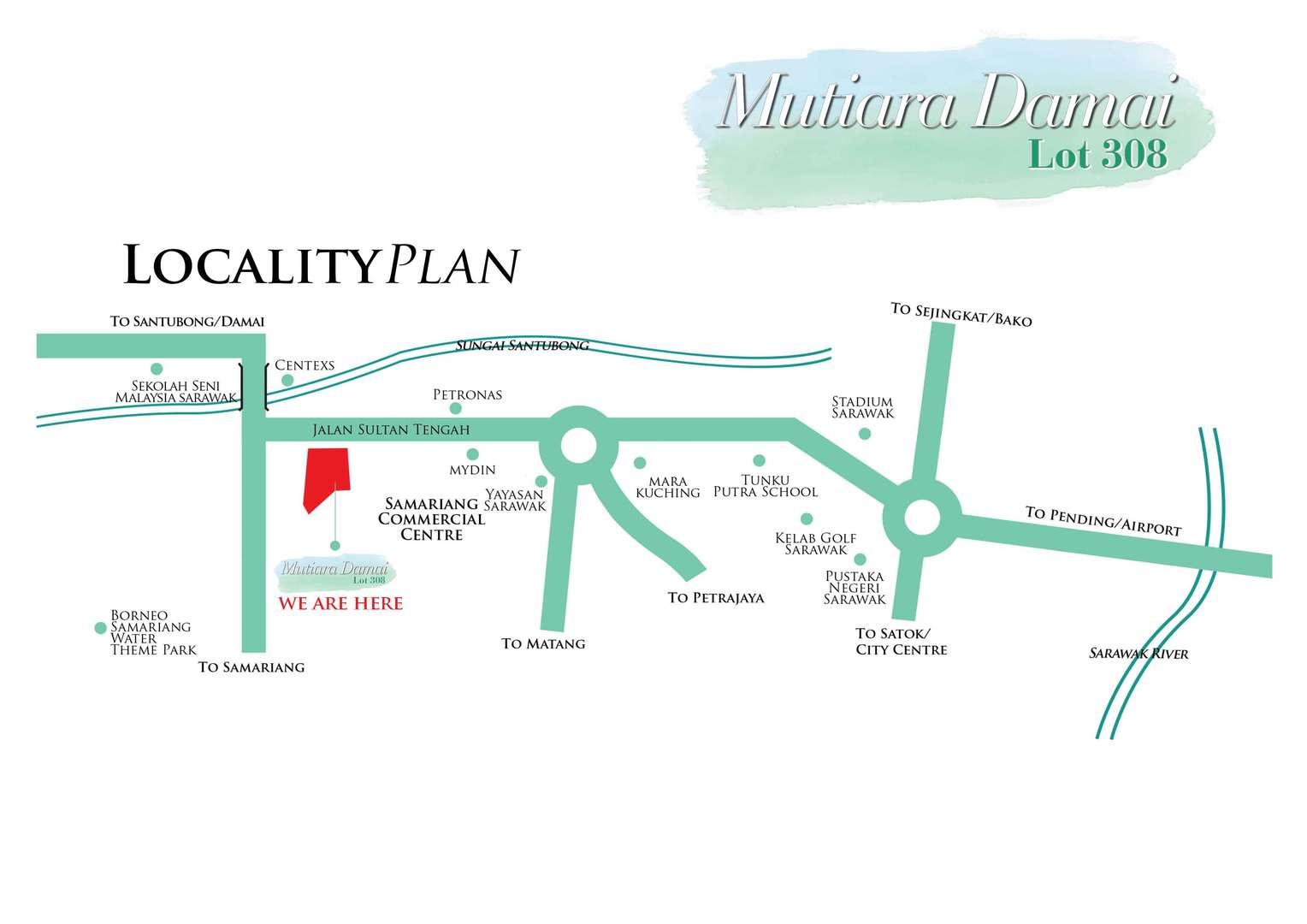 Map of Mutiara Damai Lot 308