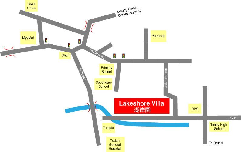 Map of Lakeshore Villa