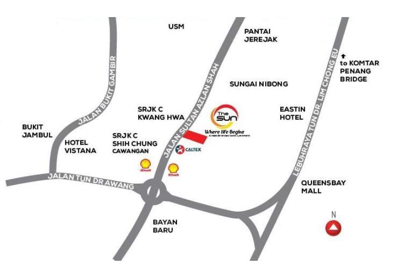 Map of The Sun (Executive Suites) @Sungai Nibong