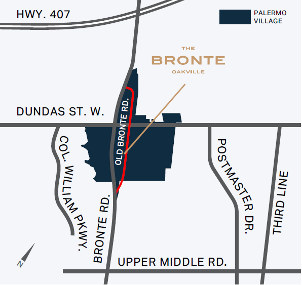 Map of The Bronte @Oakville
