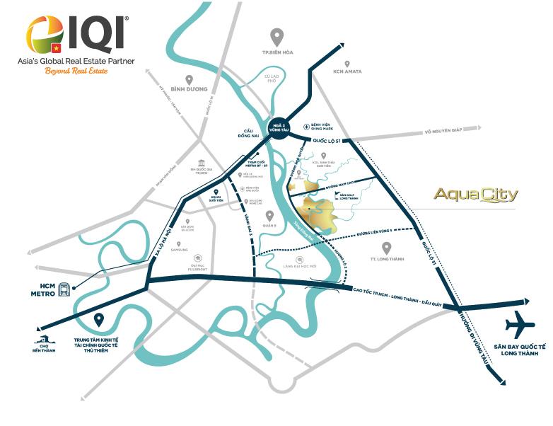 Map of Aqua City - Phoenix South