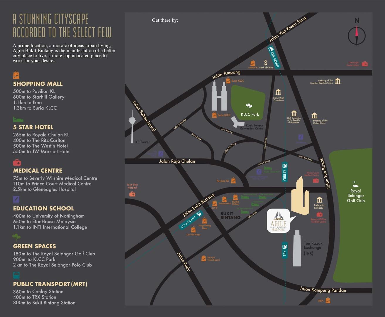 Map of A Dazzling Landmark In Kuala Lumpur