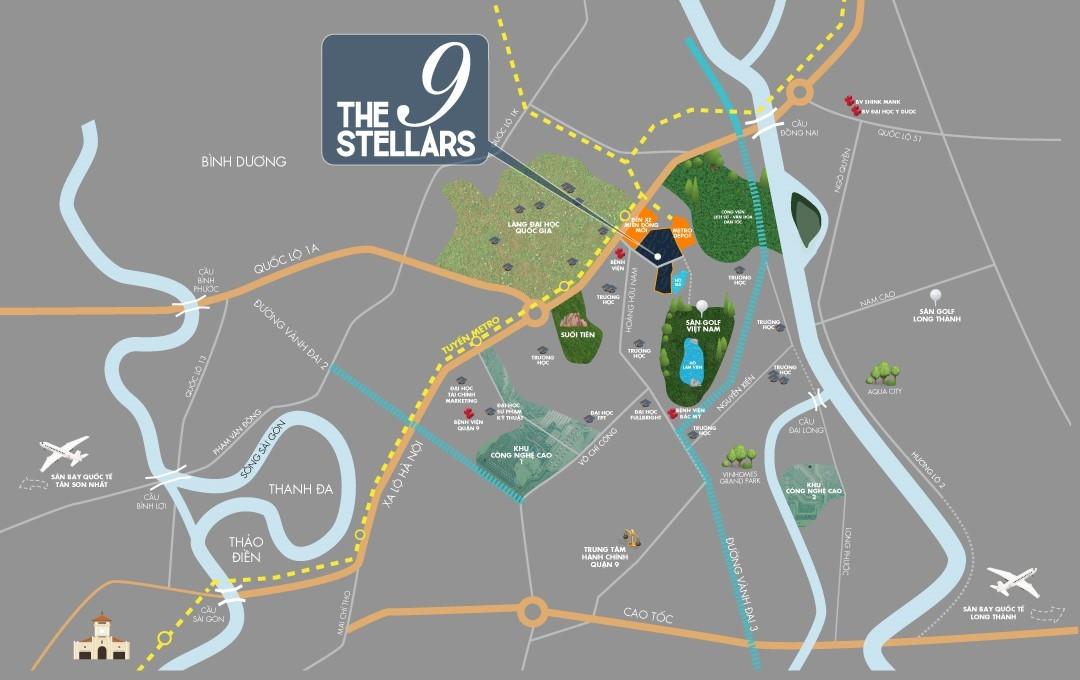 Map of The 9 Stellars