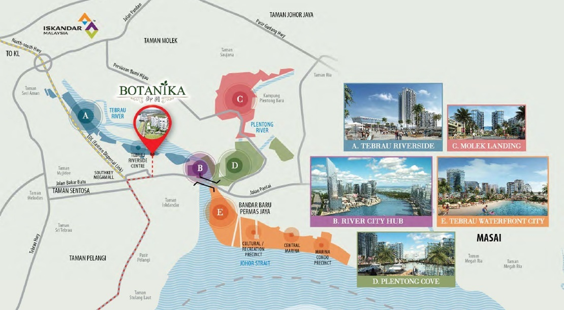 Map of 21st Century Waterfront City