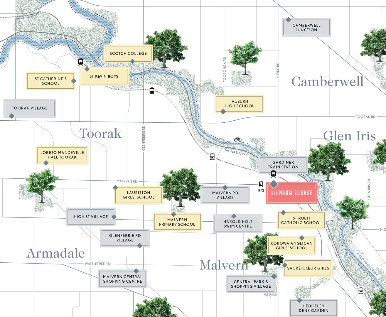 Map of Glenarm Square