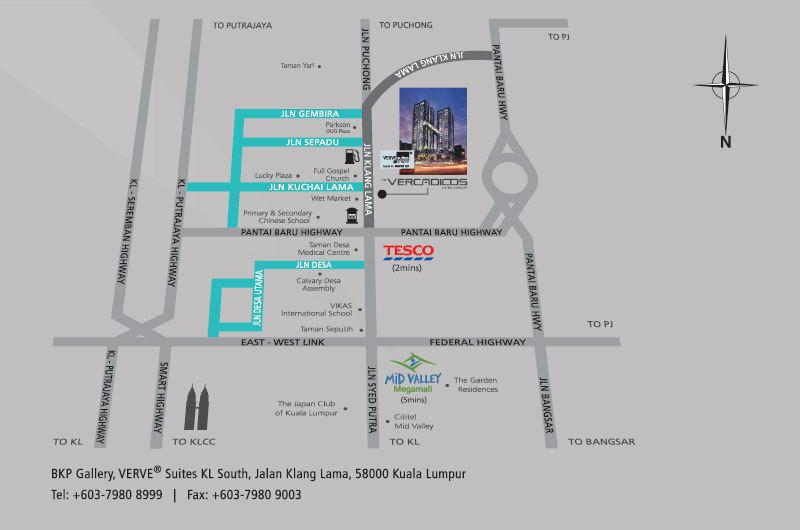 Map of Designer condominium