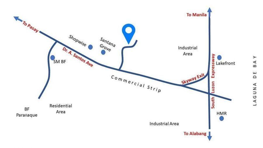 Map of El Sur Residencia