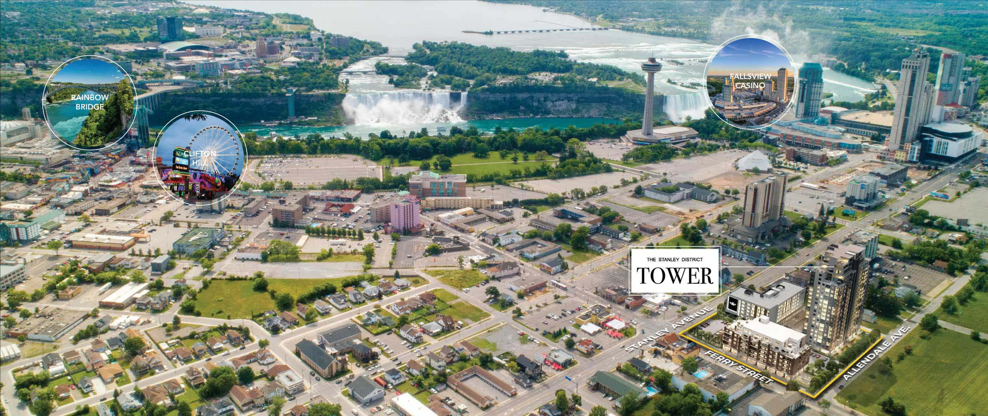 Map of Luxury Condos In Niagara Falls