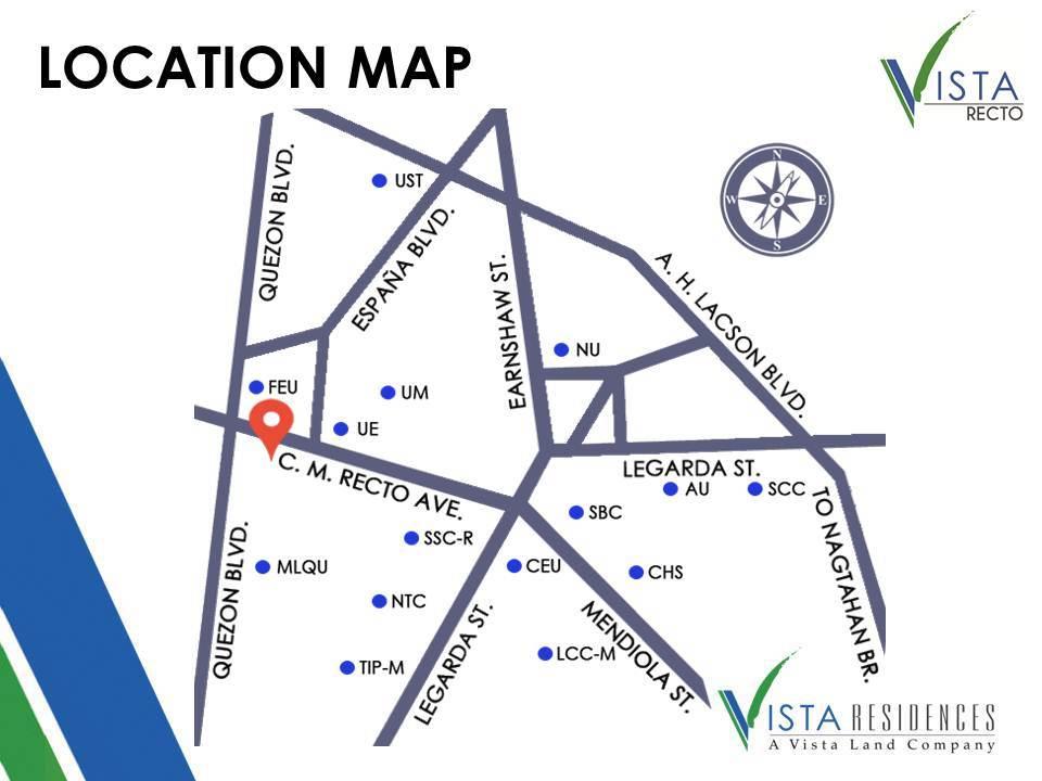 Map of Vista Recto