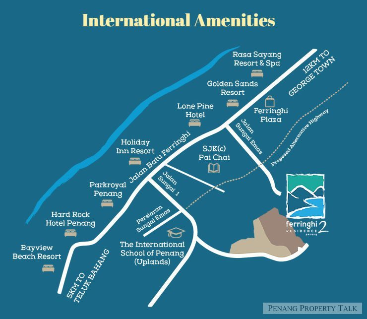 Map of Seaview Resort— Style In The Heart Of Batu Ferringhi