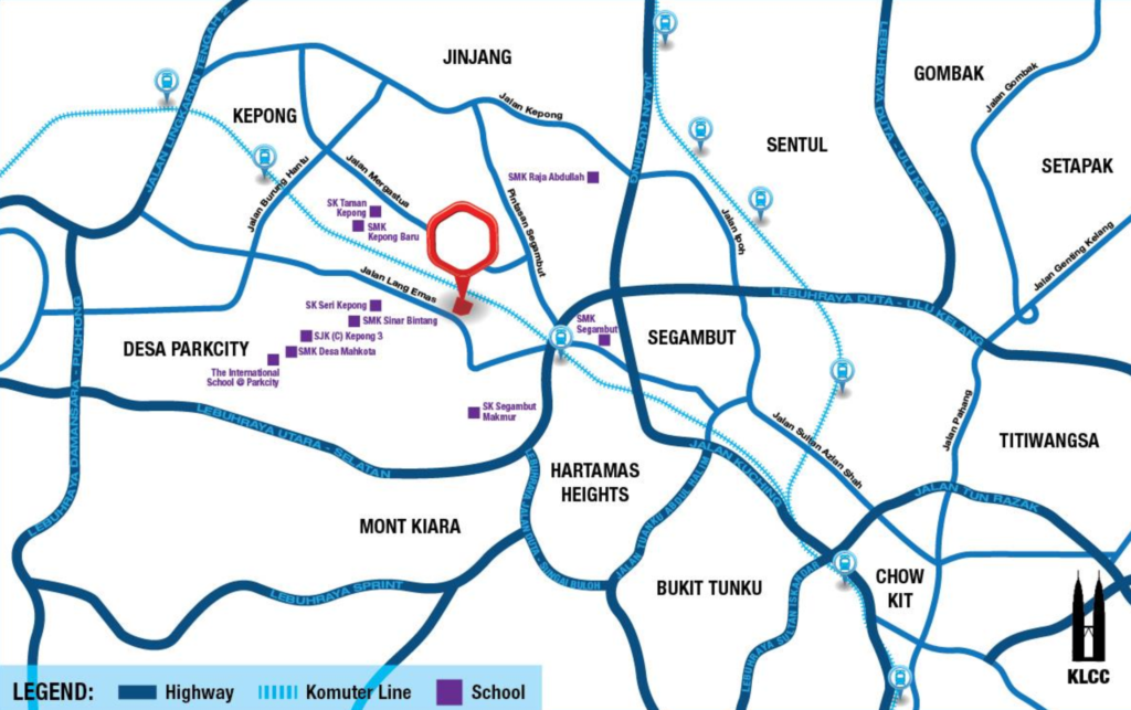Map of Strategically located suites in Kepong