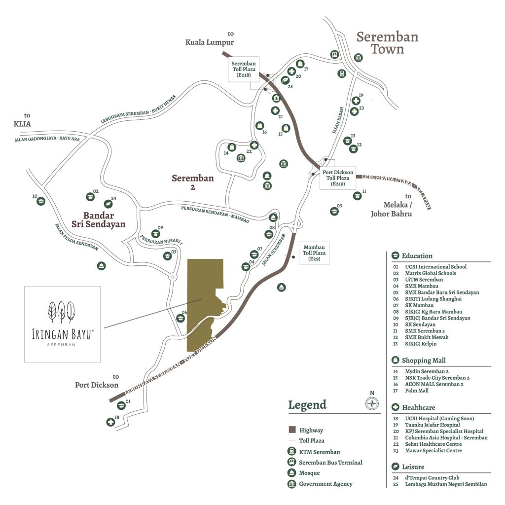 Map of Luxury Residence in Seremban