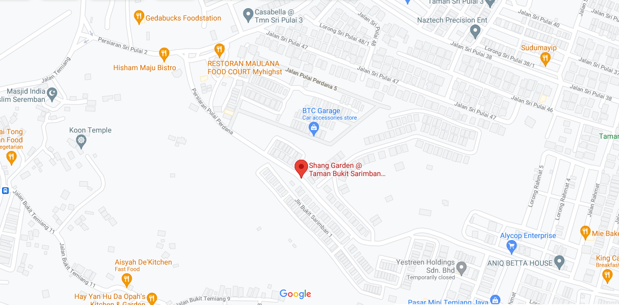 Map of Shang Garden @ Bukit Sarimban