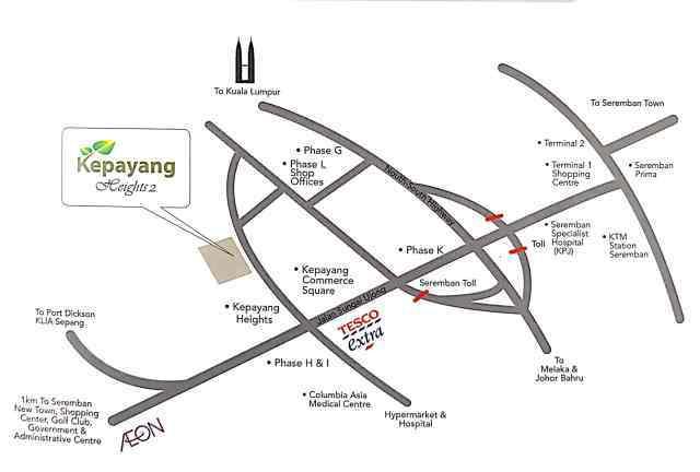 Map of Kepayang Heights 2