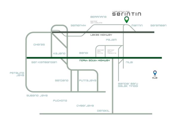 Map of Taman Surian @ Serintin, Mantin