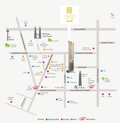 Map of Dual Key ensuite in KL