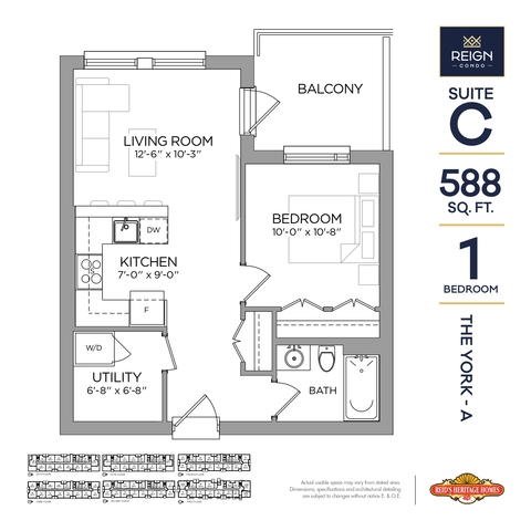 Reign Condos - Geulph, ON Floor plan #1