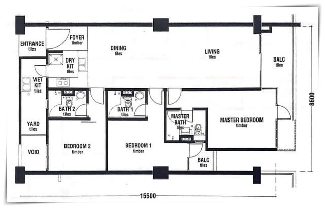Jade Residences, Luyang Floor plan #1