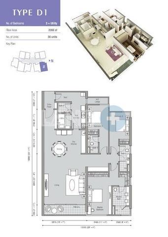 The Westside One Floor plan #1