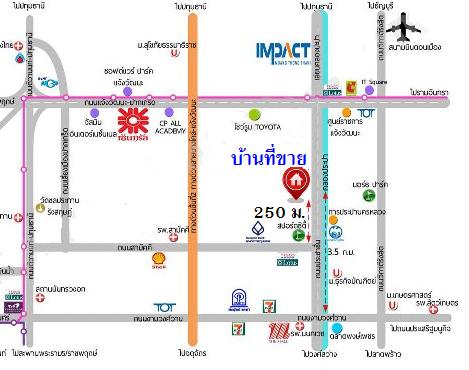 Single house Canal Road, Khlong Kluea, Pak Kret, Nonthaburi.