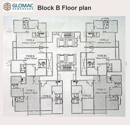 Fully Furnished Corner Unit at Glomac Damansara Residences Floor plan #1