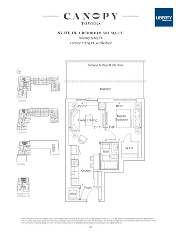 Canopy Towers condos - Mississauga, ON Floor plan #1