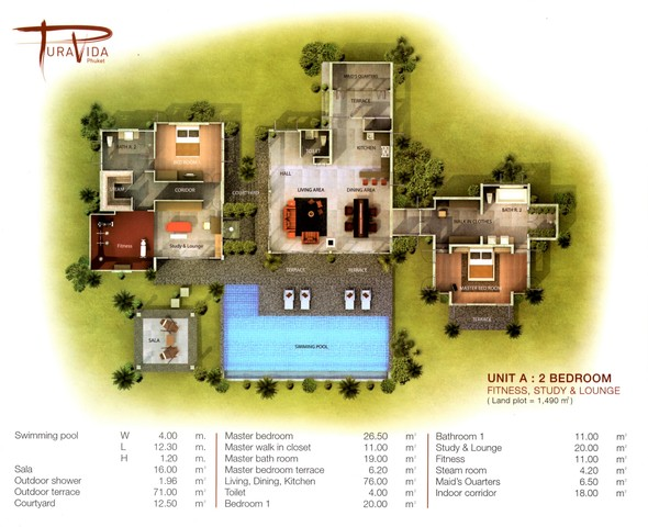 A BOUTIQUE VILLA CLOSE TO NAI YANG BEACH AND PHUKET AIRPORT FOR SALE. Floor plan #1