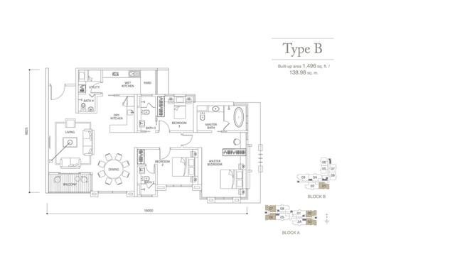 Pavilion Hilltop @ Mont Kiara Floor plan #1
