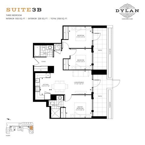 The Dylan Condominiums Floor plan #3