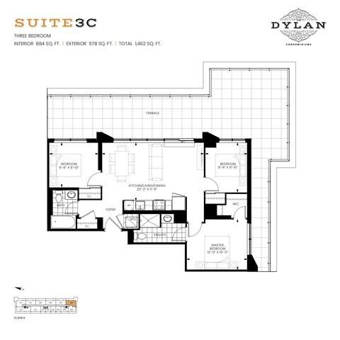 The Dylan Condominiums Floor plan #2