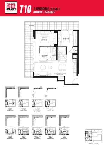 Dundas Square Gardens Floor plan #3