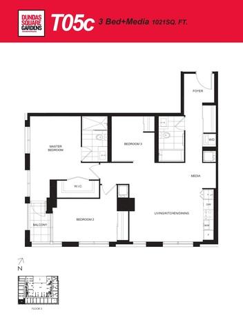 Dundas Square Gardens Floor plan #2