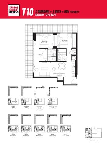 Dundas Square Gardens Floor plan #1