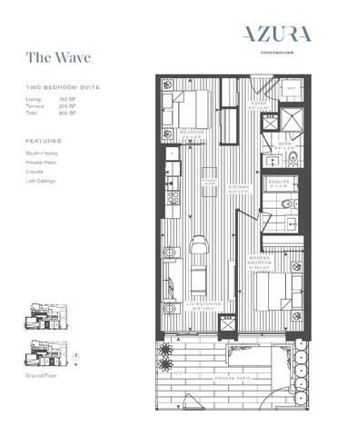 Azura Condos Floor plan #3