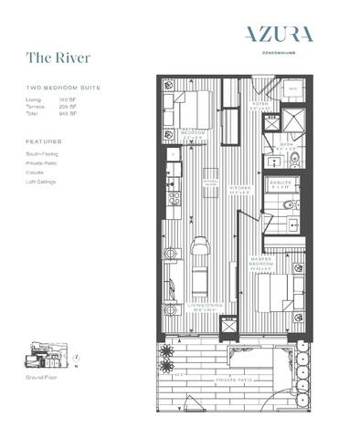 Azura Condos Floor plan #2
