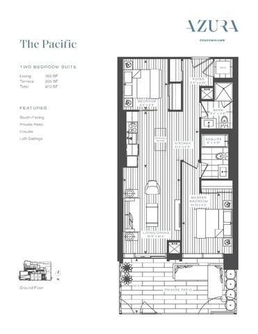 Azura Condos Floor plan #1