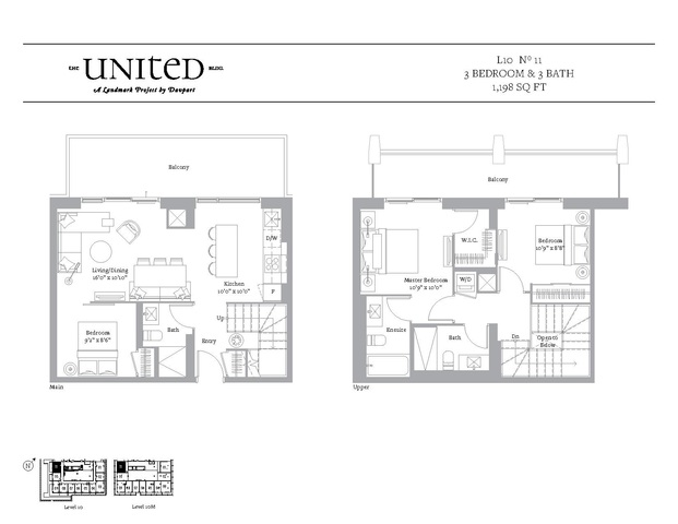 The United Bldg. Condos Floor plan #3