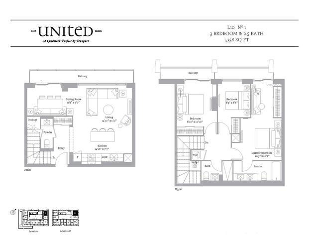 The United Bldg. Condos Floor plan #2