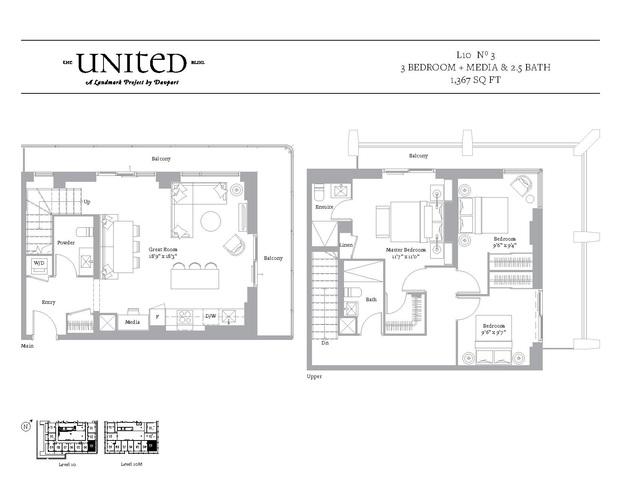 The United Bldg. Condos Floor plan #1