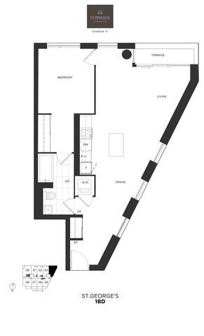 Terrasse Condos Floor plan #2