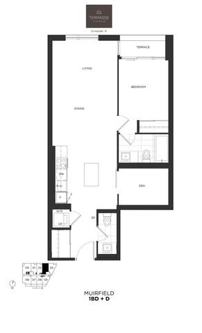 Terrasse Condos Floor plan #1