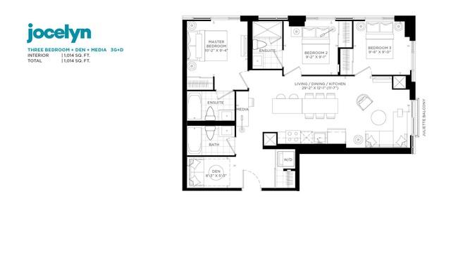 Jac Condos Floor plan #3