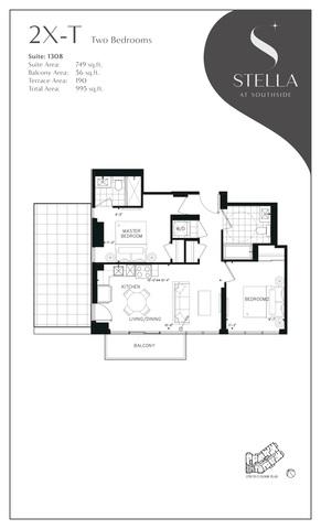 Stella at Southside Condos Floor plan #1