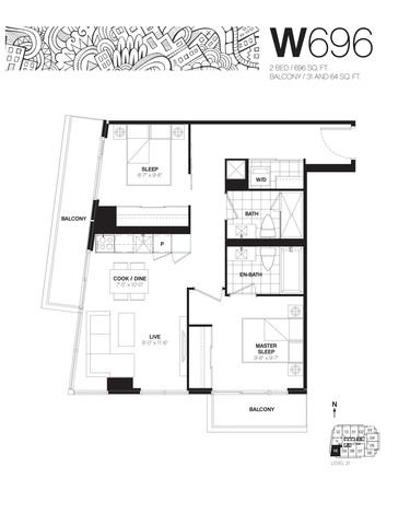Whitehaus Condos Floor plan #3