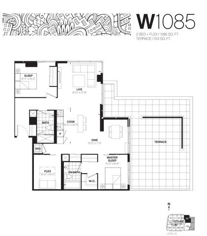 Whitehaus Condos Floor plan #2