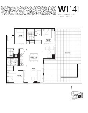 Whitehaus Condos Floor plan #1