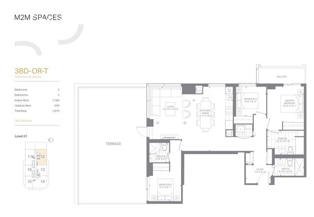 M2M SPACES Floor plan #1