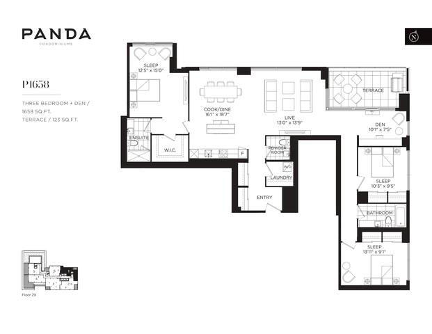 Panda Condos Floor plan #3